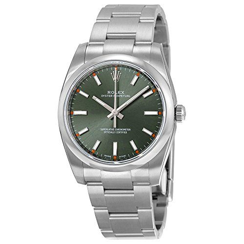Rolex Oyster Perpetual Automatic Green Olive Dial Stainless Steel Unisex Watch 1...