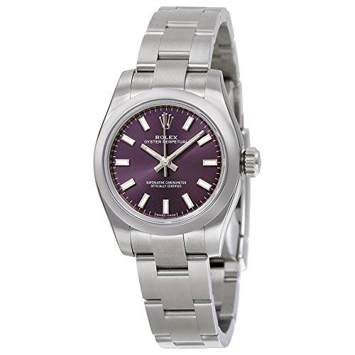 Rolex Oyster Perpetual Automatic Purple Dial Stainless Steel Ladies Watch 176200...
