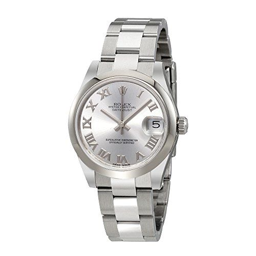 Rolex Oyster Perpetual Datejust Rhodium Dial Automatic Ladies Stainless Steel Wa...