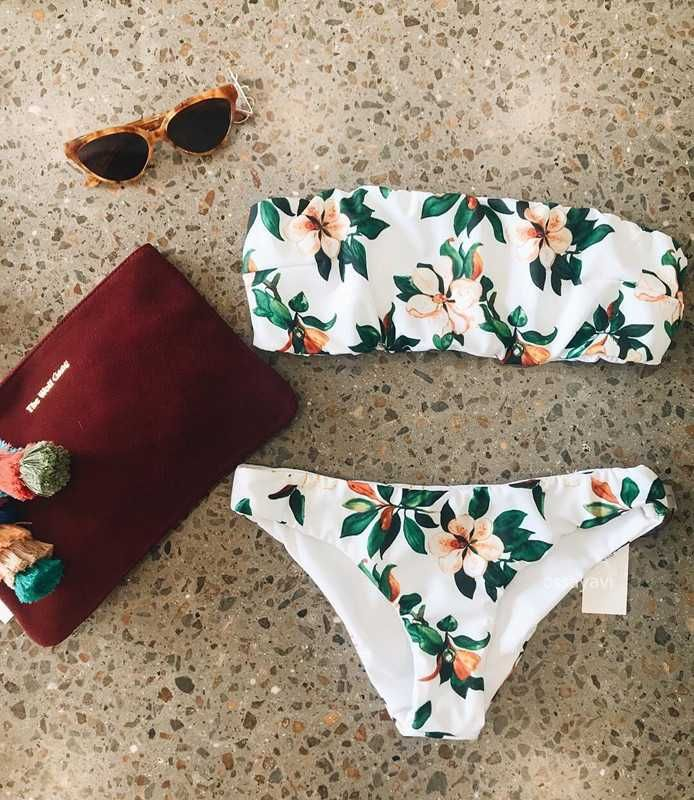 10% off floral bandeau bikini top beach swimsuit bathing suits teen swimsuits fo...