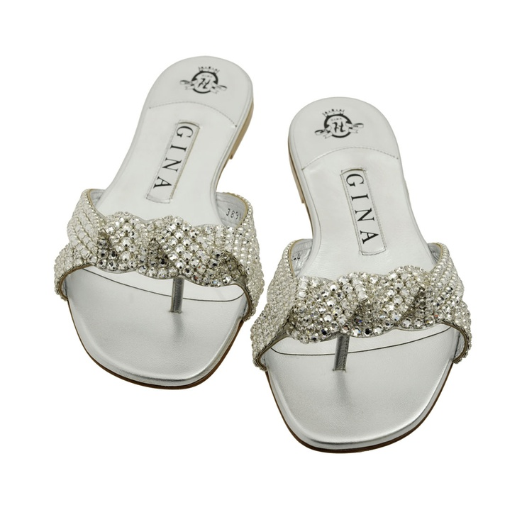 Aisha Silver Metallic Swarovski Sandals | Gina Shoes had for over 8 years LOVE T...