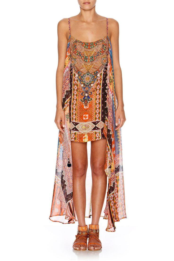 CAMILLA - CHILD OF THE TRIBE MINI DRESS W/ LONG OVERLAY - Dresses - Shop