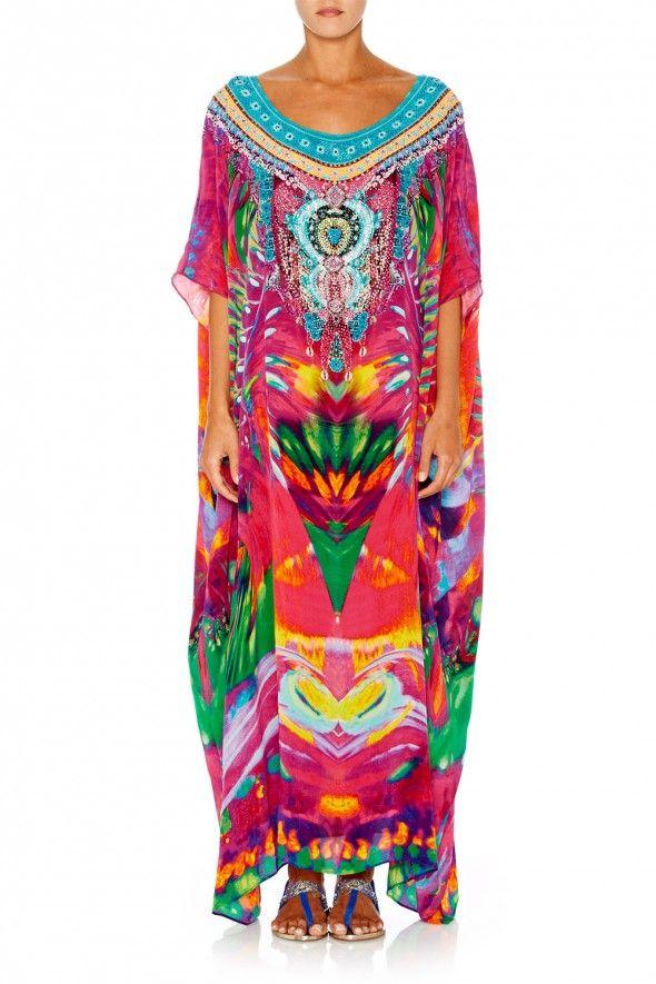 Camilla Franks Weaving Time round neck kaftan