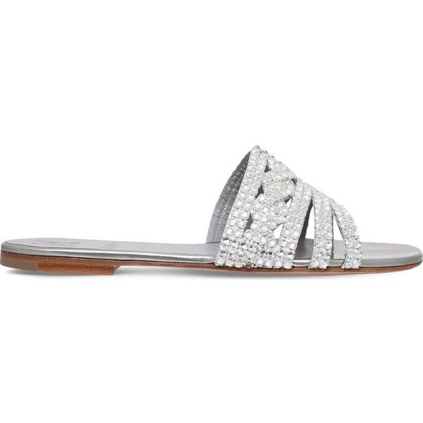 Gina Loren embellished leather sandals (38.080 RUB) ❤ liked on Polyvore featur...