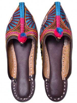 Handmade Multicolor Women Slipper Beautiful Handcrafted Stylish Mojari From Jodh...