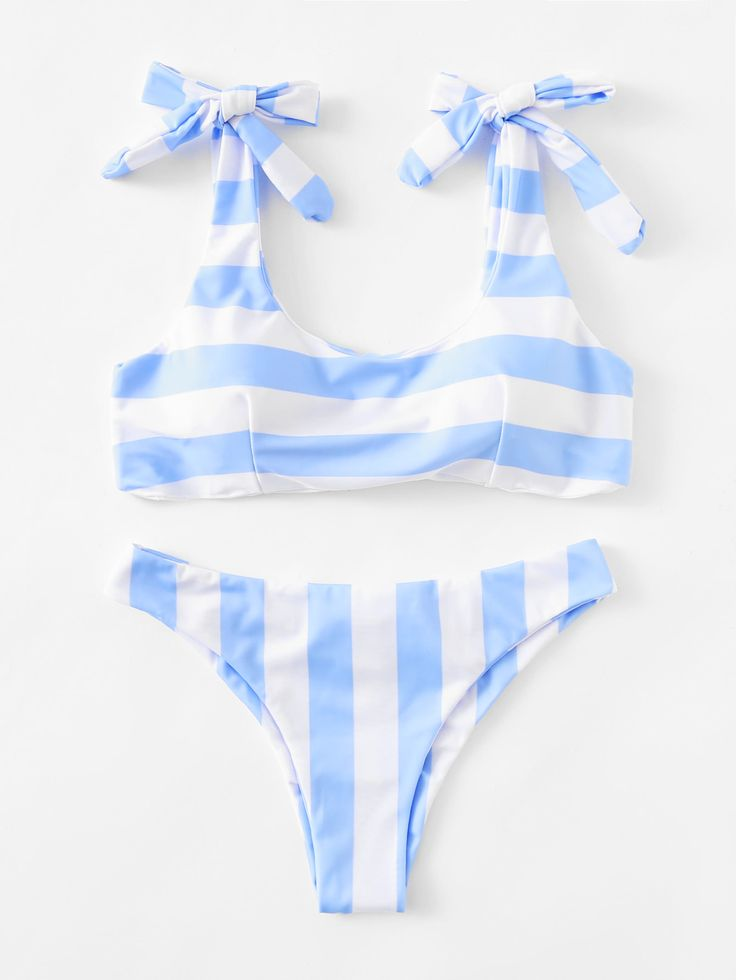d29eed8db1 Shop Striped Ruched Detail Bikini Set online. SheIn offers Striped Ruched  Detail.
