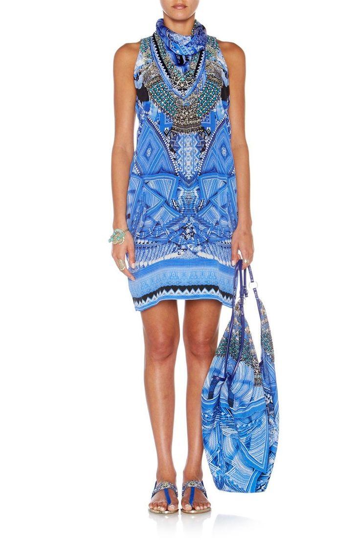 Camilla Franks Olapa Drawstring Dress DSD Silk Kaftan Rrp $599  | eBay
