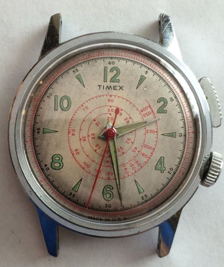 1950′s mechanical Timex (with new crystal!)