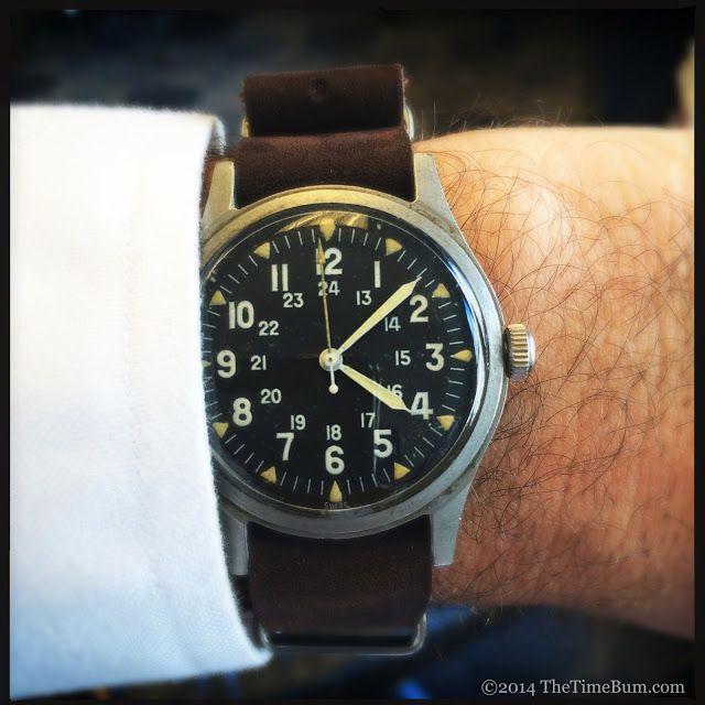 1969 Benrus GG-W-113 wrist shot