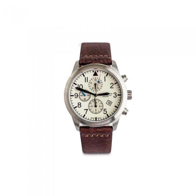 42MM Flatline Chronograph Watch | Guideboat Company