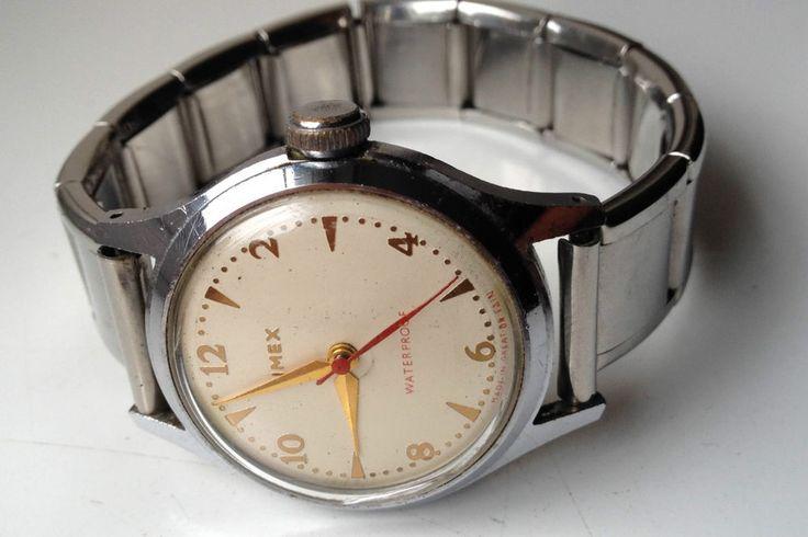 MENS VINTAGE TIMEX MANUAL WIND WATERPROOF WATCH  | eBay