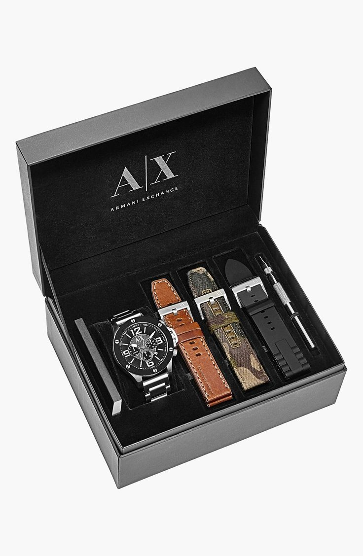 AX Armani Exchange Chronograph Interchangeable Strap Watch, 48mm (Special Edition) | Nordstrom