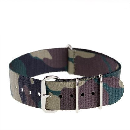 CAMO WATCH STRAP $20.00 item 81107 18 mm NATO ballistic military watch band stra...