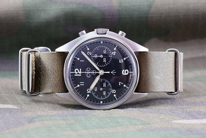 CWC [Cabot Watch Co.] RAF Vintage Military Chronograph – Valjoux Cal. 7733