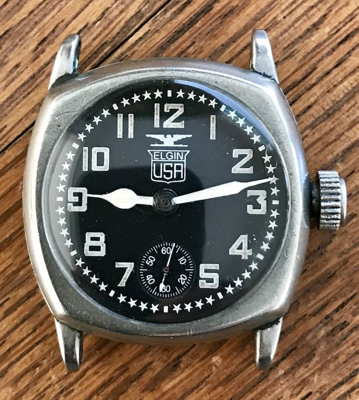 For Sale: Vintage Elgin USA Pershing Military Watch 1920s (newoldstockwatche...)
