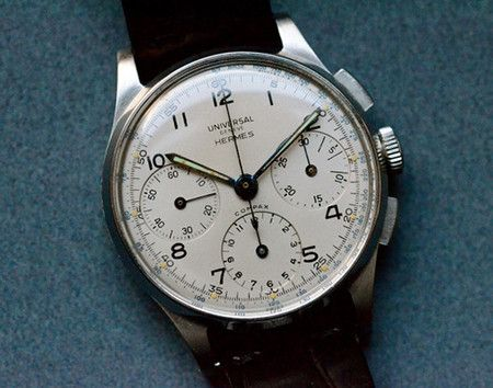 HERMES Vintage Hermes Chronograph by Universal Geneve