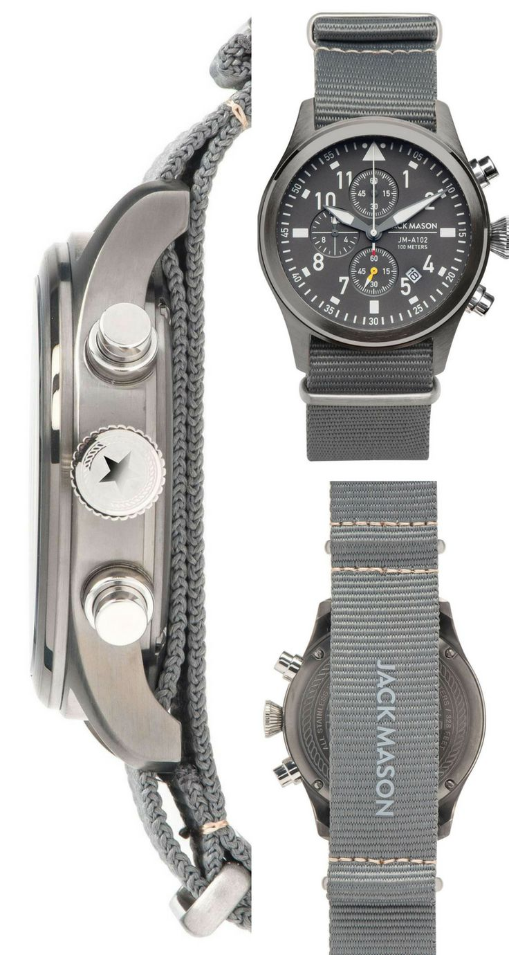 Love the look of this Aviator chronograph! - #jackmason #watch #jewellery #oybpi...