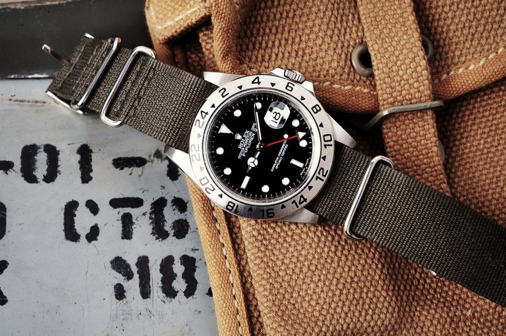 NATO. Rolex Explorer II. (Click on photo for larger image.) Photo found here: 10...