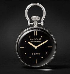 Officine Panerai - S.L.C. Stainless Steel Table Clock