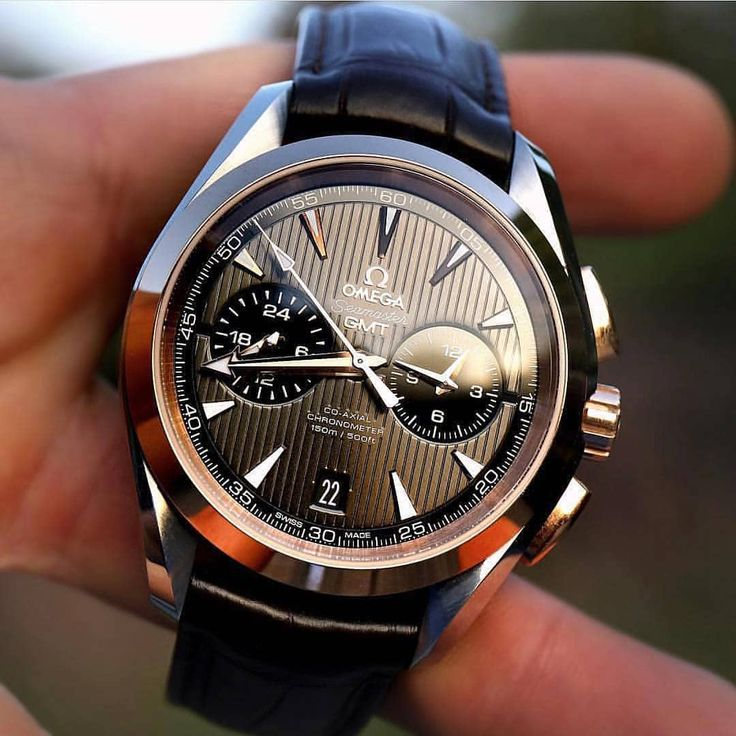 Omega Aqua Terra 150m Co-Axial GMT Chronograph Retail Price $7,320 #thetimepiece...