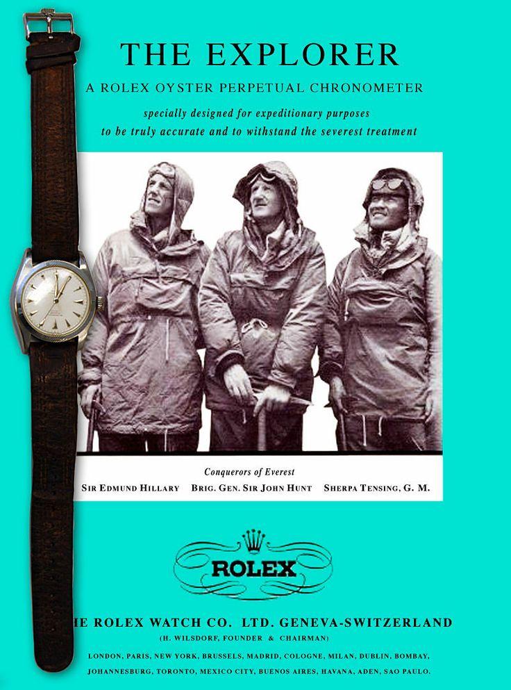 Sir Edmund Hillary's Rolex Oyster Perpetual