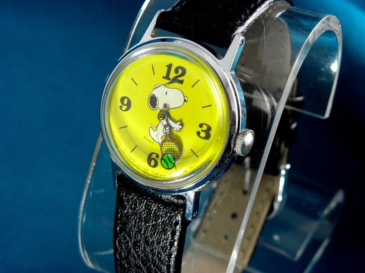 Vintage 1970's Timex Midsize Yellow Tennis Snoopy Action Watch for sale online | eBay