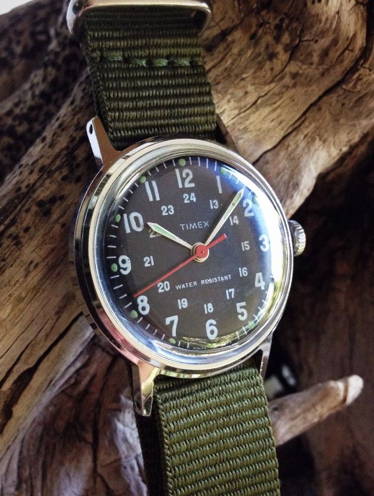 Vintage 1973 Timex Military Style Sprite Men's Mechanical Watch -Fully Serviced ...
