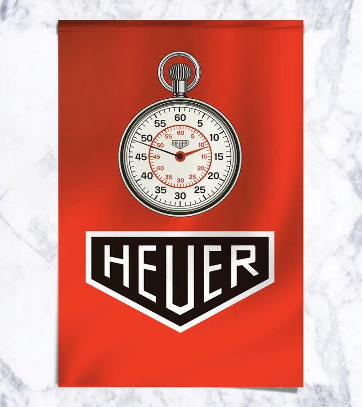 Vintage Heuer Stopwatch Porsche Flag .jpg