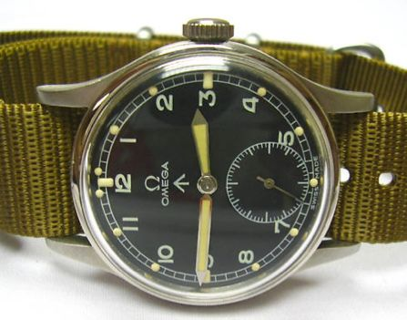 Vintage Royal British Army watch by Omega.