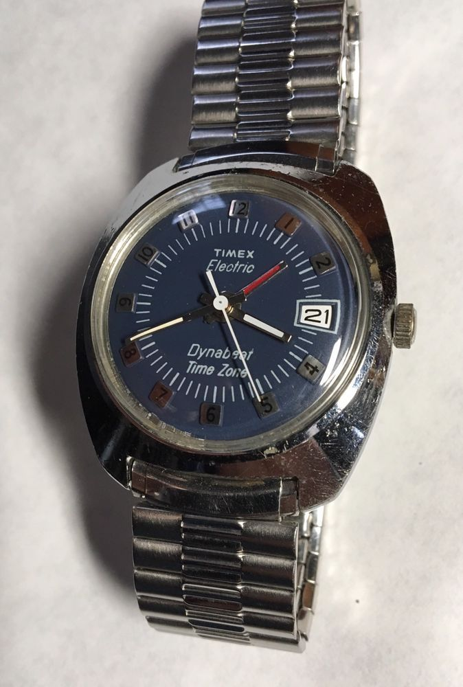 Details about TIMEX MENS VINTAGE BLACK DIAL ELECTRONIC WATCH RUNS no reserve