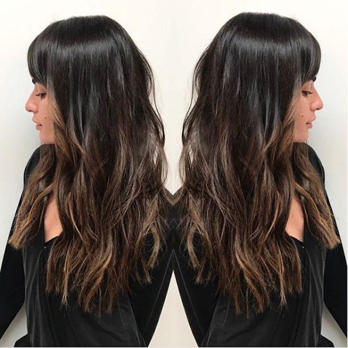 Black Balayage Hair Color