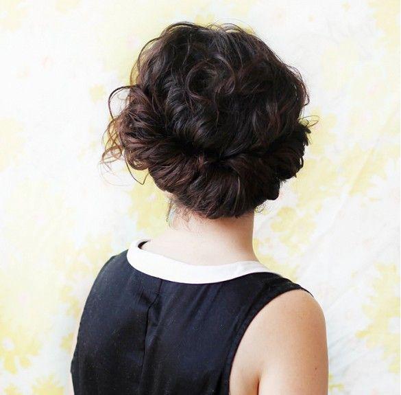 Curly-girl chignon