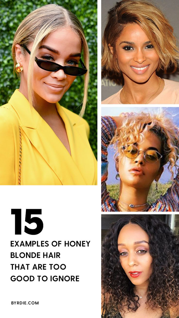 The best examples of honey blonde hair