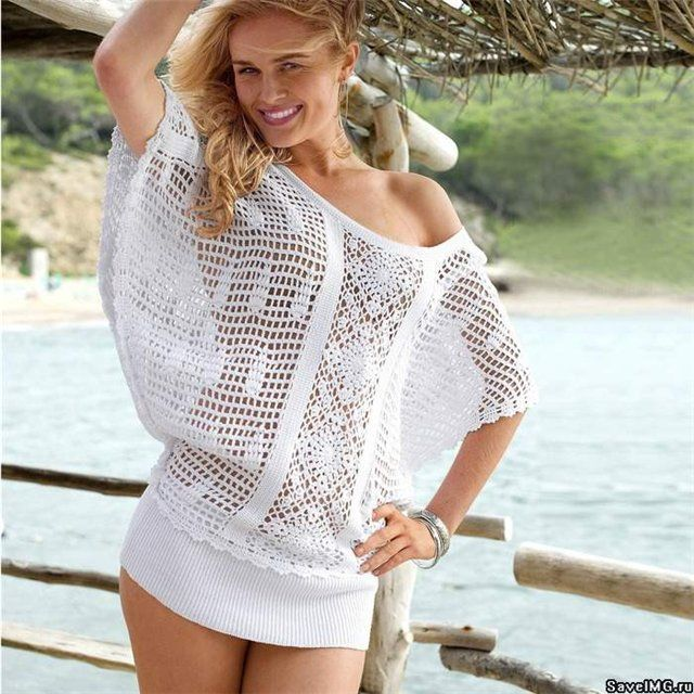 Crochet Swimwear 20182019 White Tunic Free Crochet Graph Pattern