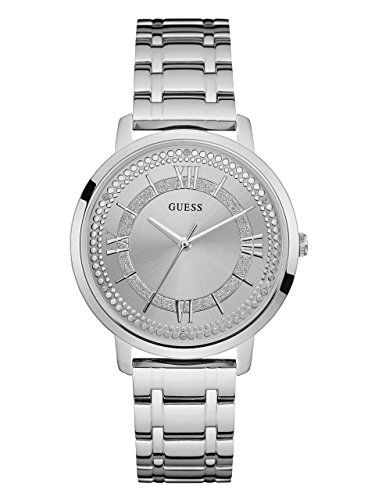 GUESS Womens Quartz Stainless Steel Casual Watch ColorSilverToned Model U0933L1 ...