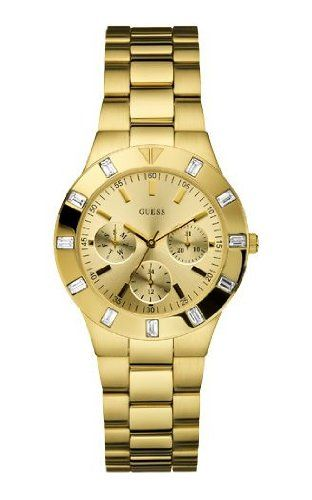 Guess W13576L1 Ladies GLISTEN Gold Tone Watch ** You can get more details by cli...