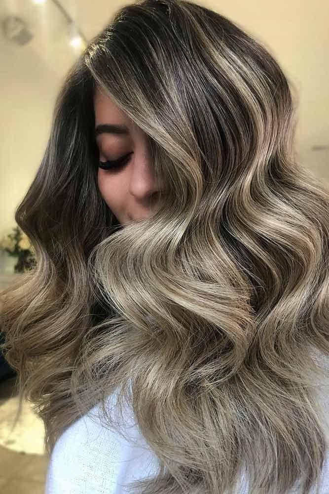 Hair Color 2017/ 2018 , Ash Blonde Balayage Brunette