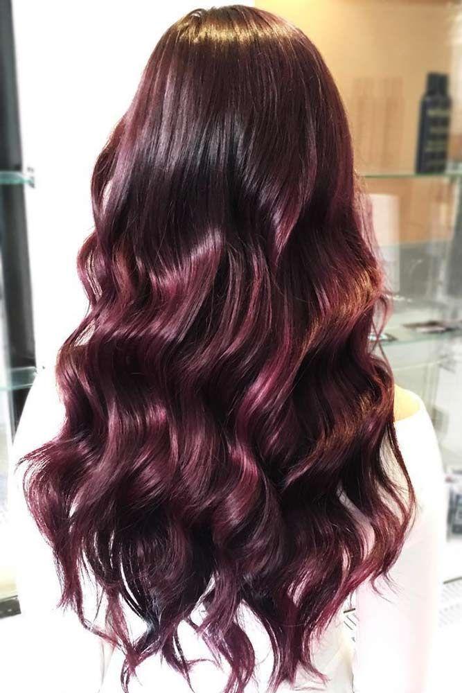 Hair Color 2017 2018 Burgundy Mahogany Redhair Brunette