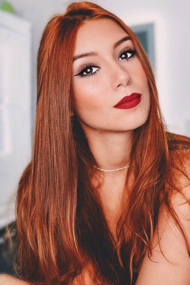 Copper Color Melt #redhair #longhair ❤️ A dark, light, ombre or balayage cop...