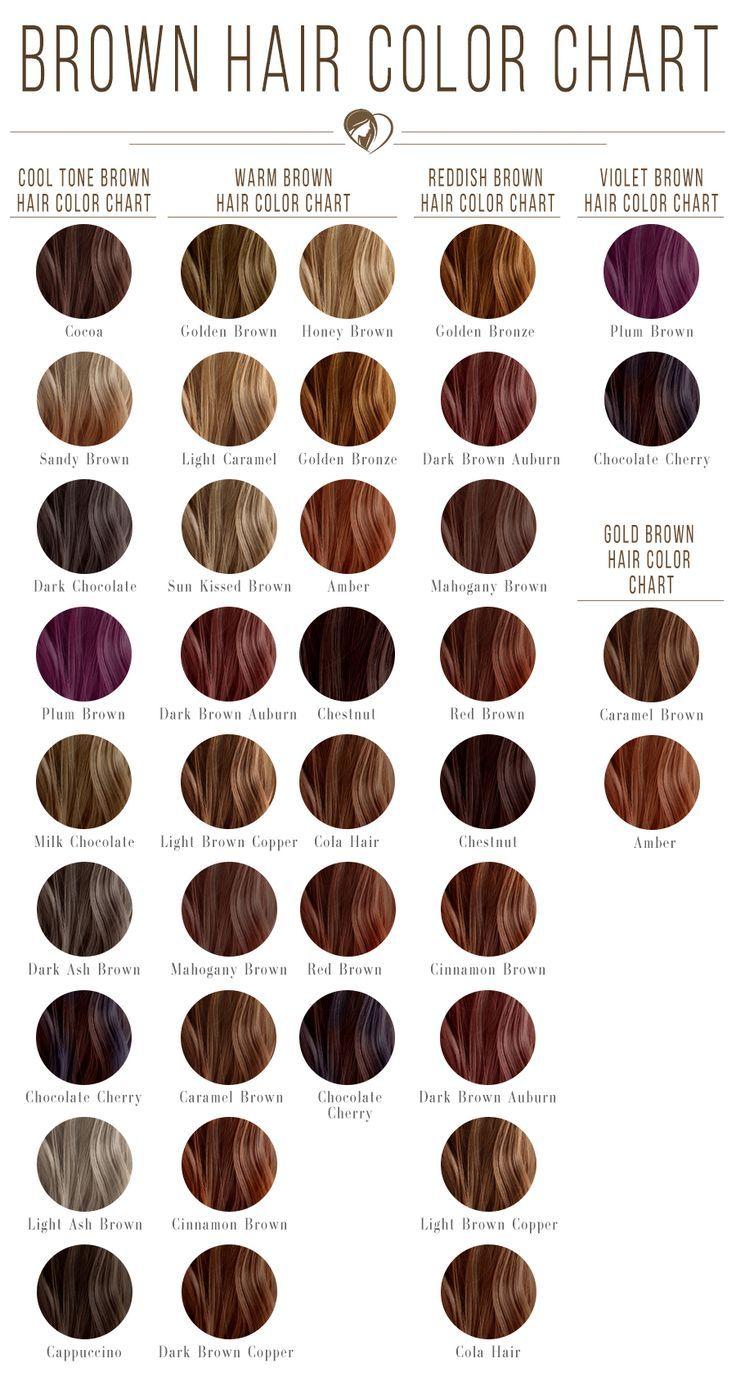 Dark Brown Hair Color Chart Brunette Brownhair I