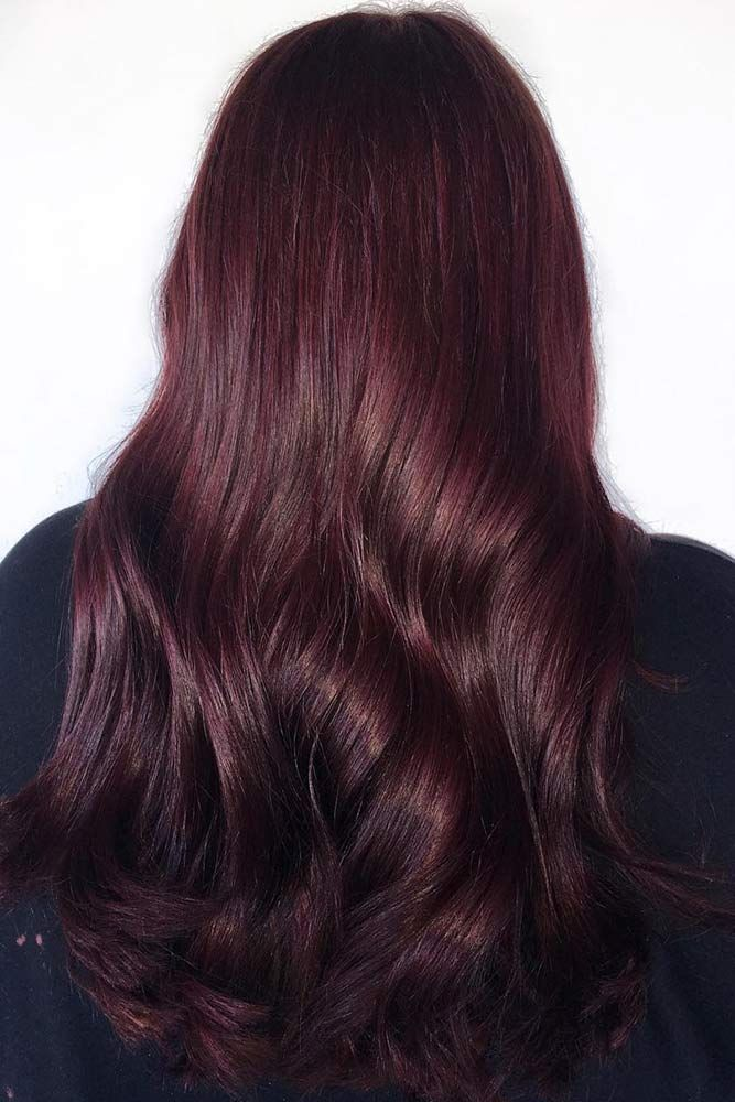 Deep Aubergine #redhair #brunette ❤️ Would you like to try a mahogany hair c...
