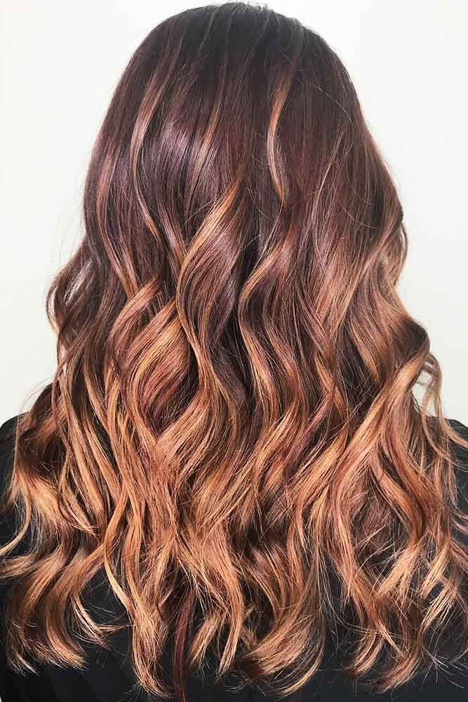 Dusty Rose Mahogany #redhair #ombre ❤️ Would you like to try a mahogany hair...