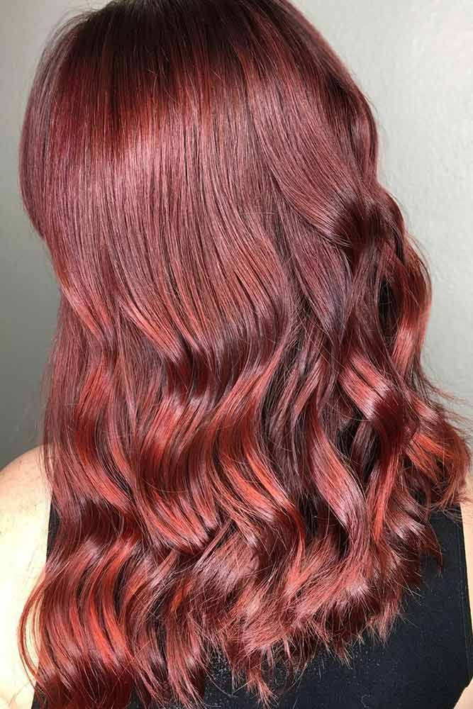 Fiery Mahogany #redhair #ombre ❤️ Would you like to try a mahogany hair colo...