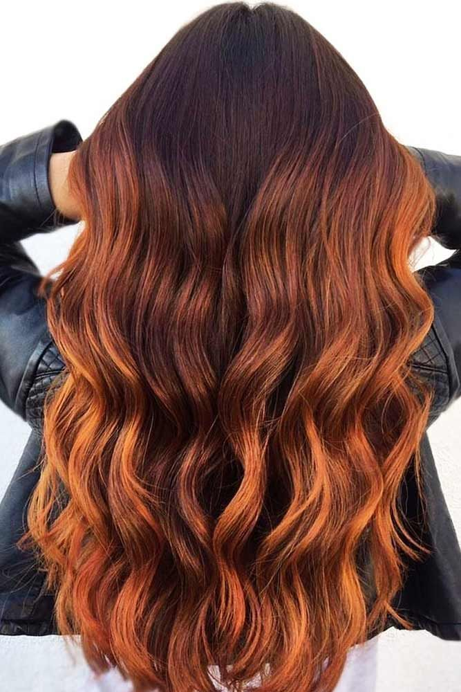 Hair Color 2017 2018 From Brown To Copper Hair Redhair Balayage
