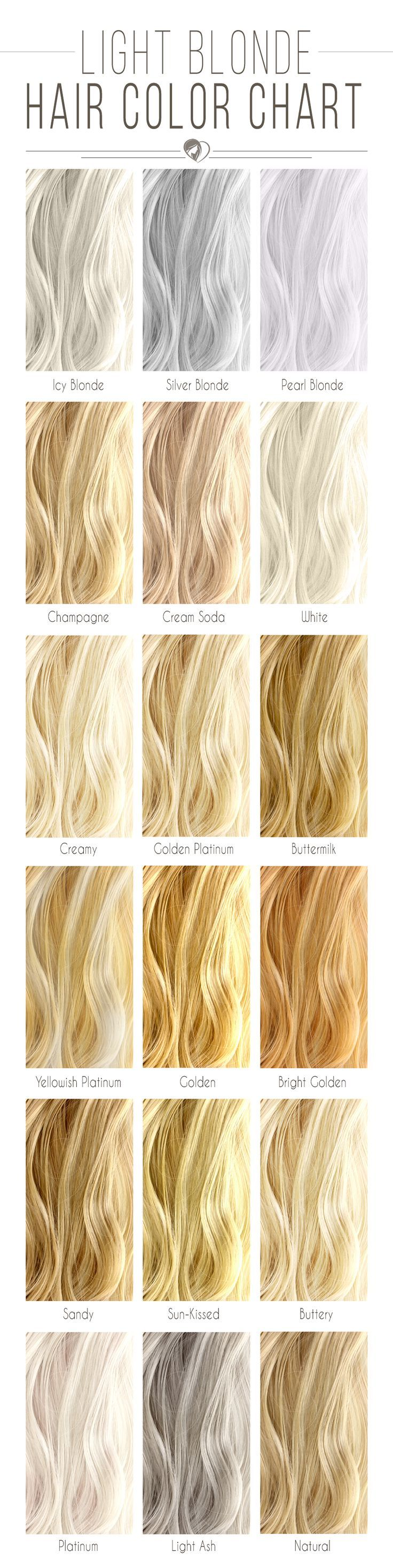 Hair Color 2017 2018 Light Blonde Hair Color Chart Blondehair
