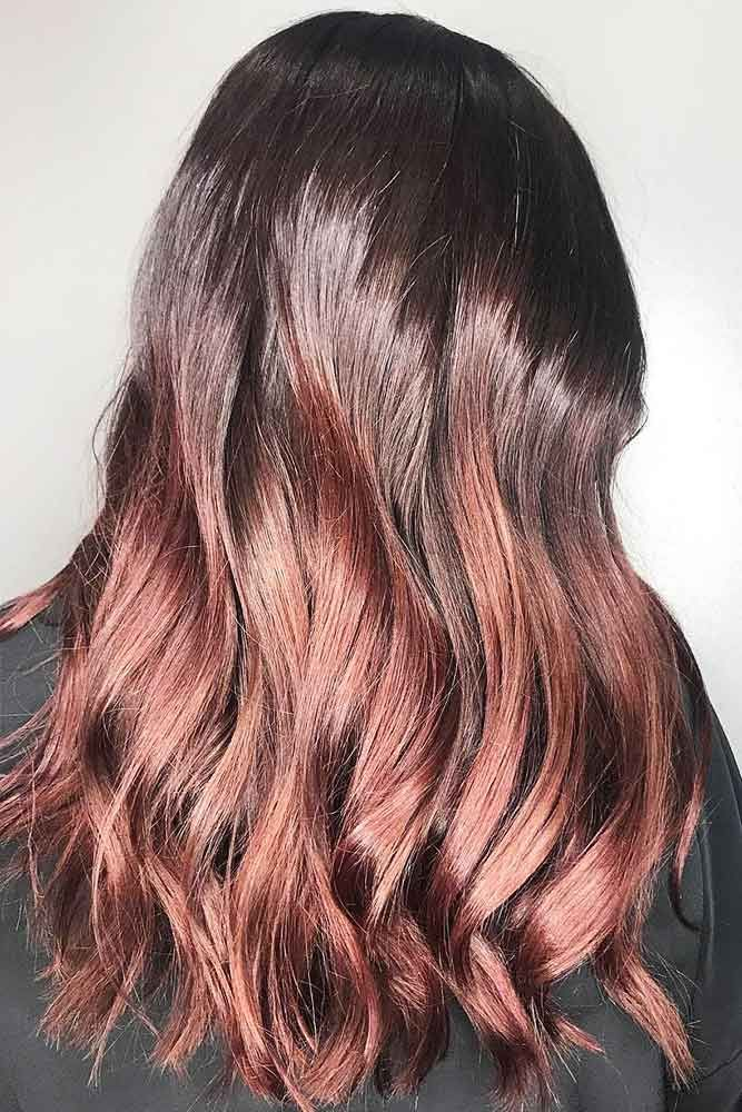 Hair Color 2017 2018 Mahogany Sunset Ombre Redhair Brunette