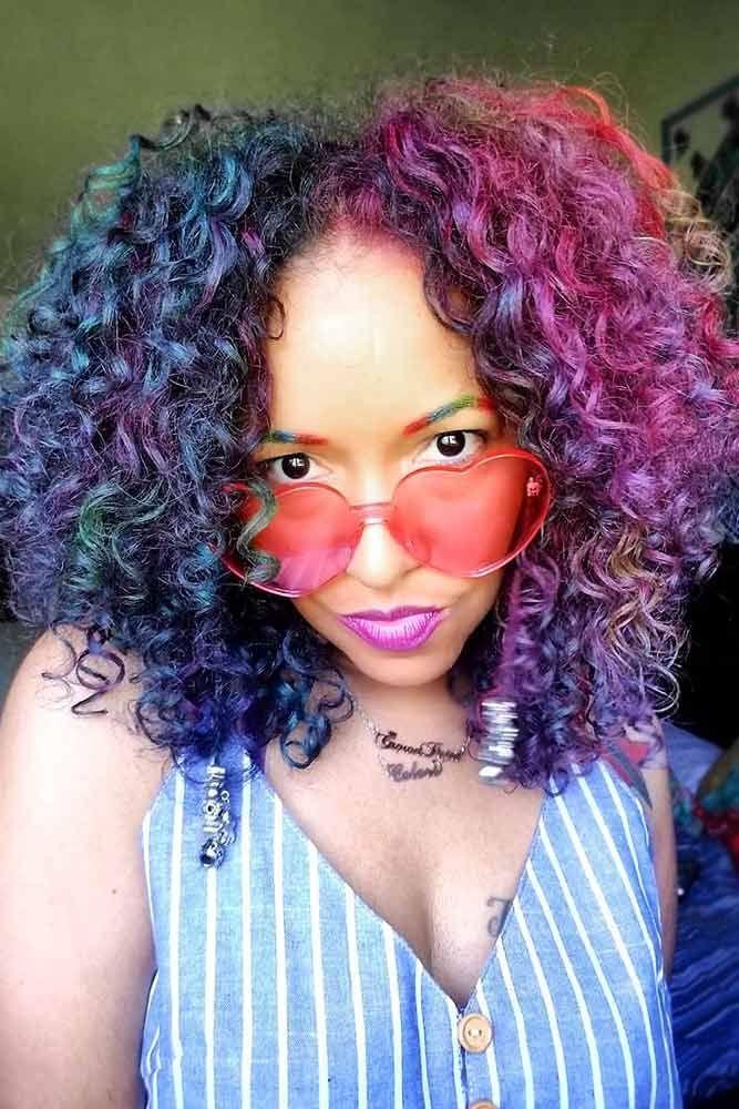 Oil Slick Hair #temporaryhaircolor #oilslickhair ❤️ Want to brighten your da...