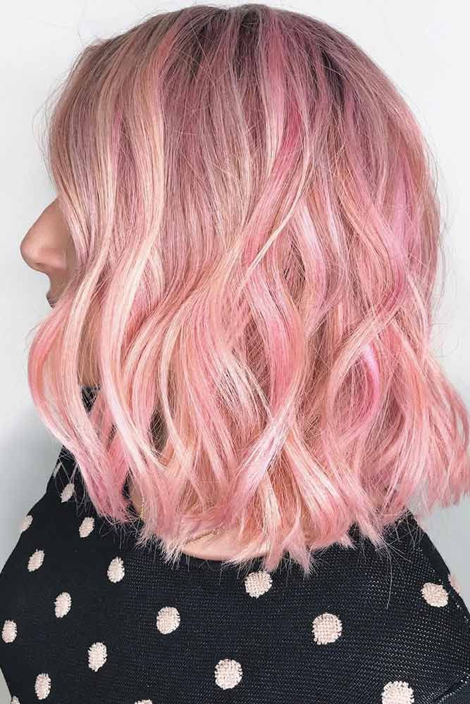 Hair Color 2017 2018 Pink Highlights With Dark Roots Pinkhair