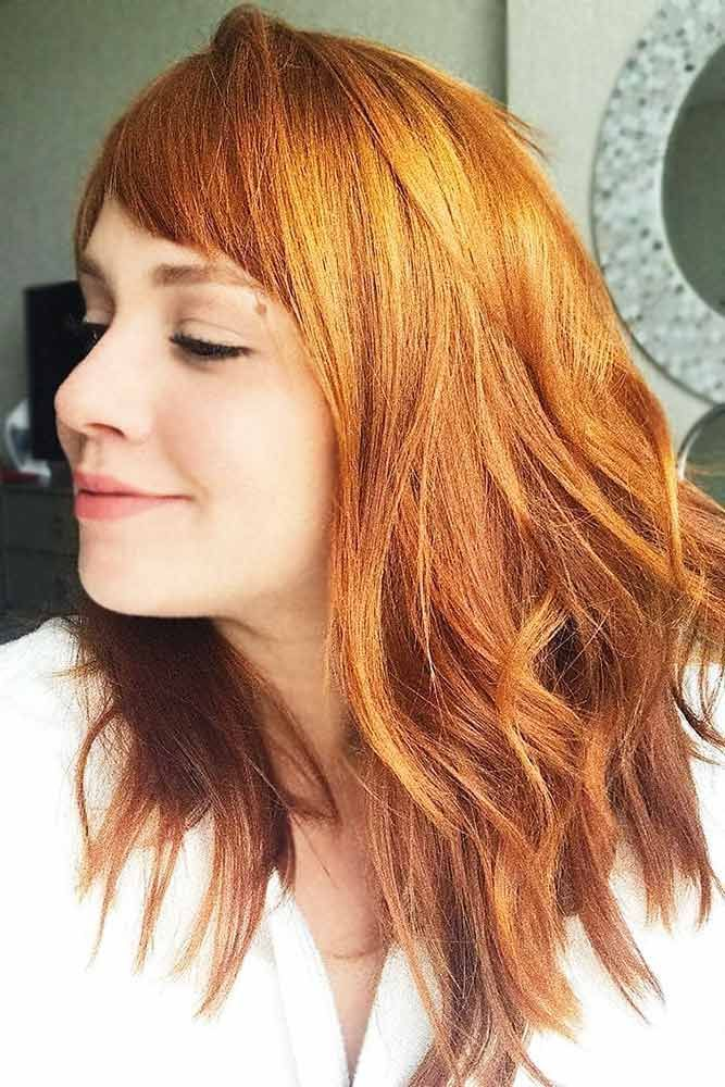 Pumpkin Spice Copper #redhair #mediumhair #wavyhair ❤️ A dark, light, ombre ...