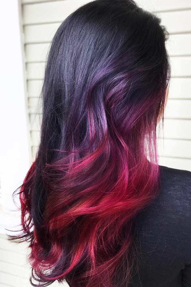 Shades Of Burgundy Ombre Brunette #brunette #redhair #ombre ❤️ Do you know w...
